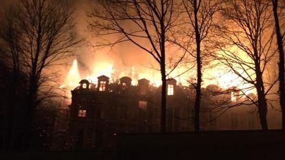 Brand in kasteel van Dongelberg