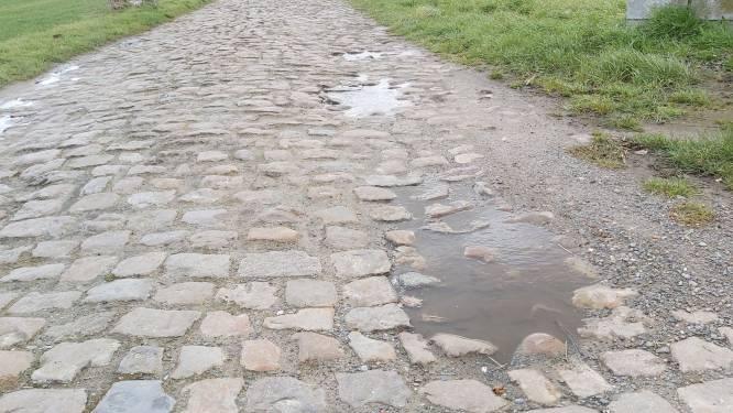 Stukje Parijs-Roubaix richting molen in Overlaar