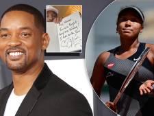 Will Smith schrijft briefje als steun voor Naomi Osaka: 'Ik sta aan jouw kant'