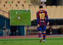 Lionel Messi druipt af.