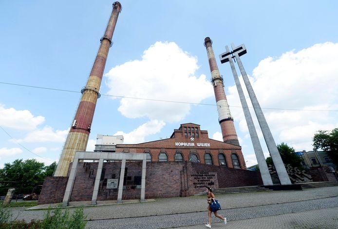 Een gesloten steenkoolmijn in het Poolse Katowice.