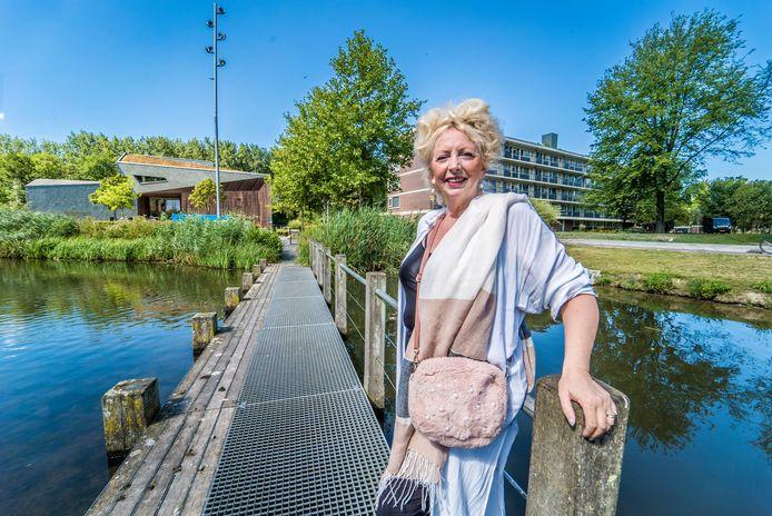Jolanda Gaal bij het Poptapark.