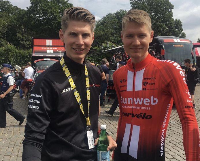 Martin en Wilco Kelderman tijdens de Tour de France van 2019