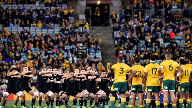 31.000 ongemaskerde rugbyfans volgen duel tussen Nieuw-Zeeland en Australië na onderbreking van 7 maanden