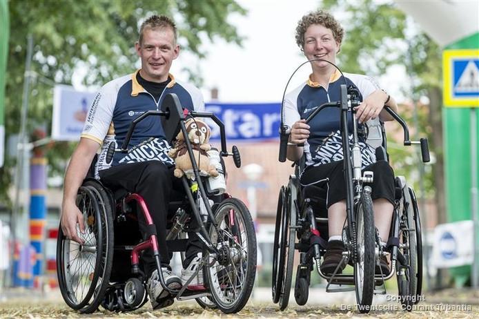 Deelnemers Florus Terhalle en Iemke Hansen