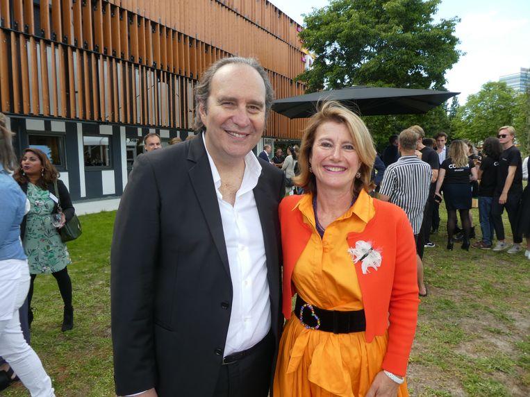 Xavier Niel, de visionair van de school, en Corinne Vigreux, de founder van Codam: