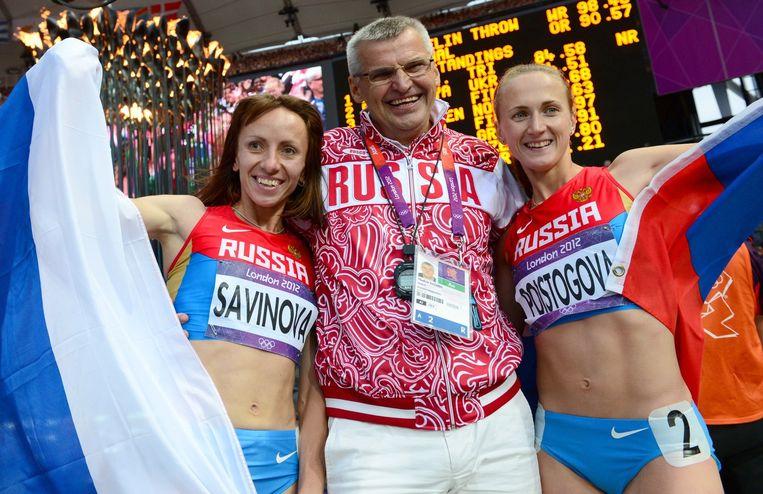 Vijf lopers, onder wie olympisch kampioen Maria Savinova en bronzen winnares Ekaterina Poistogova (beiden 800 meter), moeten voor het leven worden geschorst. Beeld afp