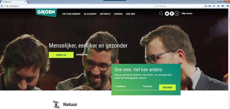 Wie surft naar jinnihbeels.be komt uit op de website van Groen, de voormalige kartelpartner van sp.a, de partij waarvoor Jinnih Beels de lijst trekt in Antwerpen.