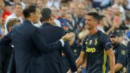 FOTO. Ronaldo druipt in tranen af na rode kaart, nadat hij even naar Murillo's haren graaide