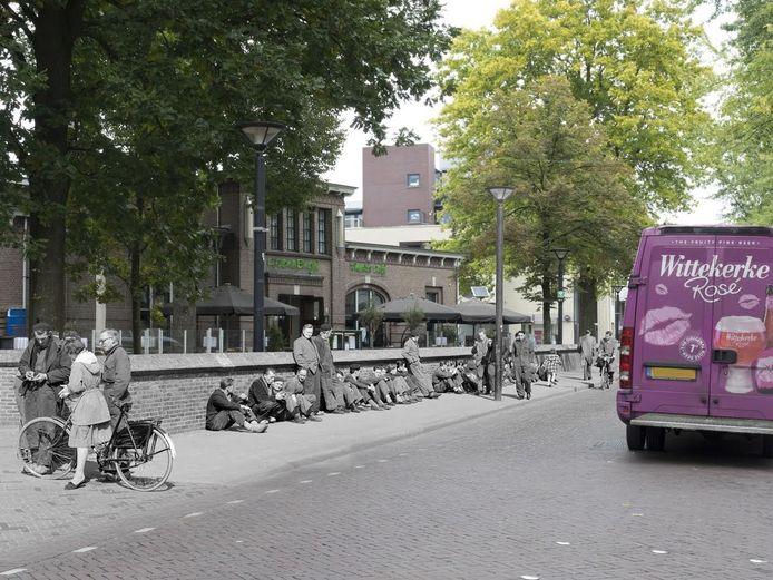 Een foto van de Kruisstraat uit de expositie.