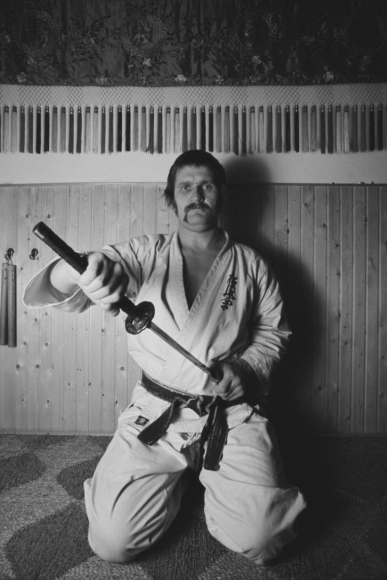 Karateka Jan Stapper in 1980. Beeld Getty Images