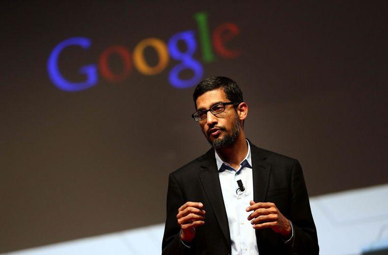 Google-topman Sundar Pichai. Beeld ANP