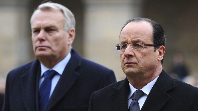 Le Premier ministre Jean-Marc Ayrault et le président François Hollande