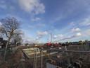 De nieuwbouw aan het Celsiusplein in Woensel-West, Eindhoven. De 223 woningen van corporatie Trudo worden aangesloten op het warmtenet uit Strijp-T.
