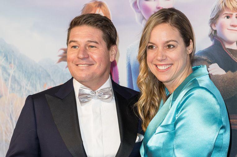 Martijn Krabbe en partner Deborah Wietzes Beeld Getty Images