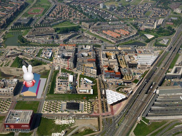Het nijntje museum op het Berlijnplein in Leidsche Rijn Centrum zou er ongeveer zo uit kunnen zien volgens de VVD.