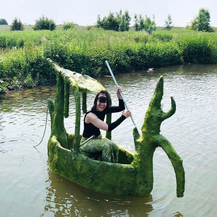 Salves van der Gonde in haar bootje