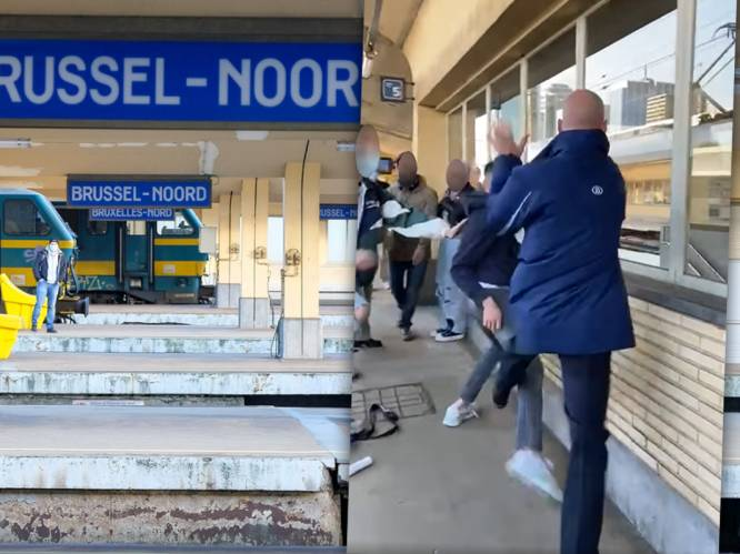 Videobeelden tonen hoe treinbegeleider aangevallen wordt nadat hij jongeman wijst op mondmaskerplicht