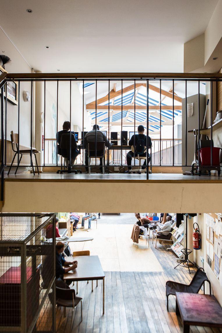 Daklozencentrum De Vaart. G4S bleek hier nog de beste kandidaat. Beeld Thomas Legrève