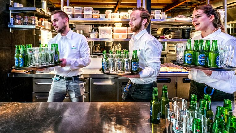 Heinken 0.0 wordt gepresenteerd in Amsterdam Beeld Raymond Rutting/ de Volkskrant
