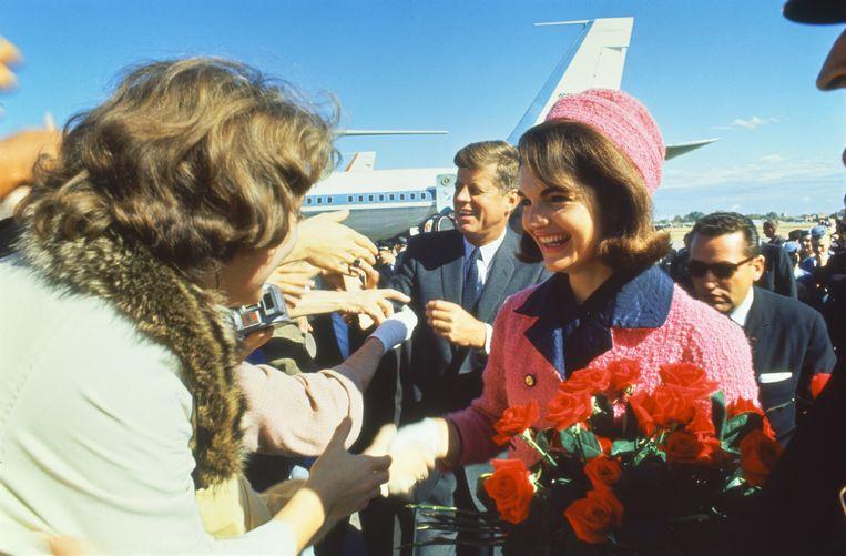 John F. Kennedy en zijn vrouw, Jackie.