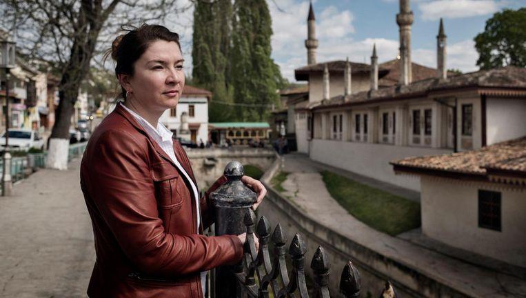 De man van Elmira Abljalimova, Achtem Tsjiygo van de Tataren-organisatie Mejlis, is gearresteerd. Beeld Yuri Kozyrev/ Noor