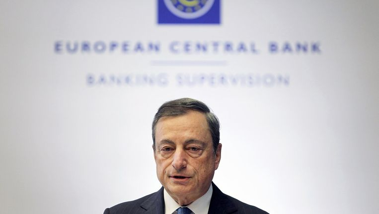 Mario Draghi, president van ECB. Beeld afp