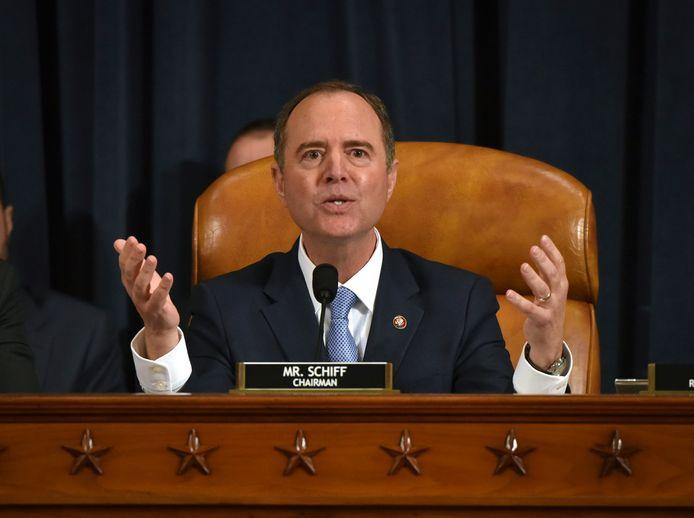 Adam Schiff leidt het impeachment-onderzoek tegen Donald Trump en zal zijn rapport volgende maand overmaken.