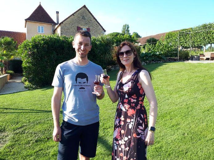 Davy en Ilse Van Deursen in de Dordogne: neef en nicht.