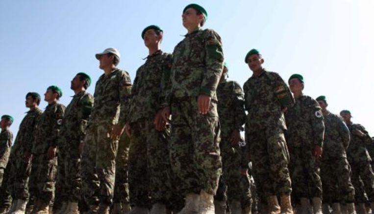 Afghaanse agenten in opleiding. EPA Beeld