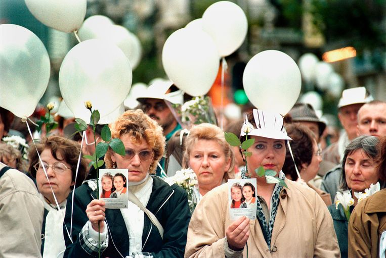 1996: 300.000 mensen nemen in Brussel deel aan de Witte Mars. Beeld Hollandse Hoogte / Flip Franssen