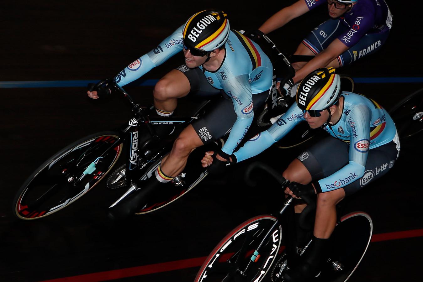 Noah Vandenbranden en Gianluca Pollefliet sloten hun eerste ploegkoers bij de beloften als vijfde af.