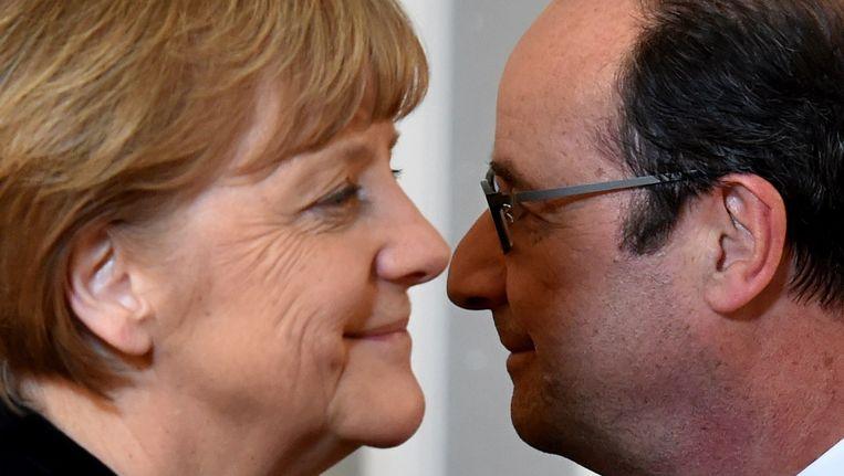 Merkel en Hollande, vandaag in Minsk.