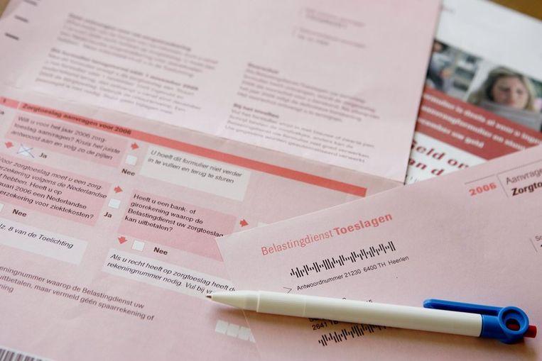 Aanvraagformulieren voor zorgtoeslag Beeld ANP