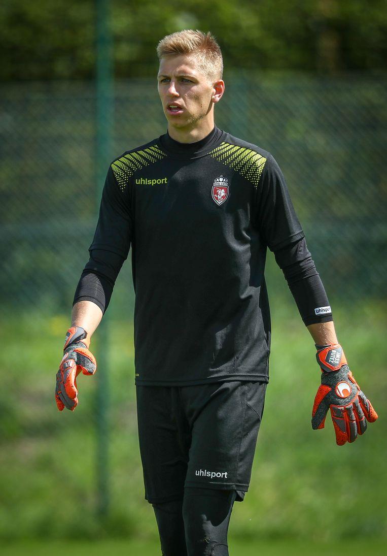 Jean Butez, (nu nog?) op training bij Moeskroen.