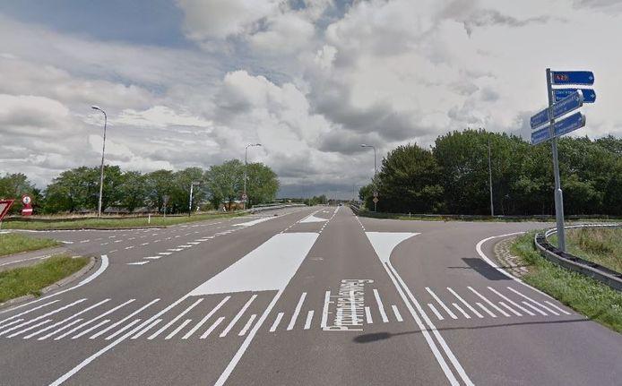 Kruising A29-N487 waar de provincie een rotonde wil aanleggen.