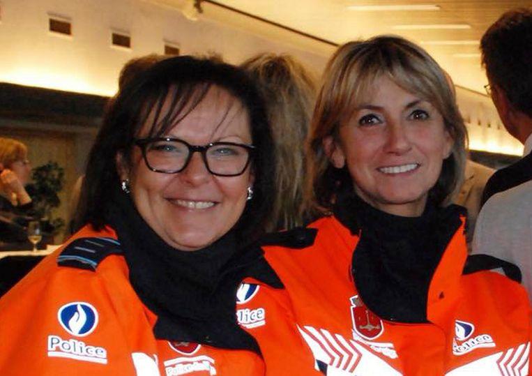 Soraya Belkacemi (links) en Lucile Garcia (rechts). Beeld AP