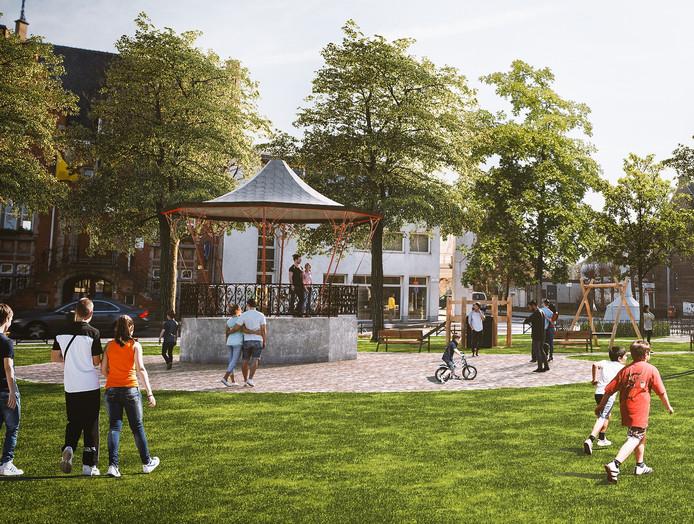 Een toekomstbeeld van hoe Oostakkerdorp er zal gaan uitzien