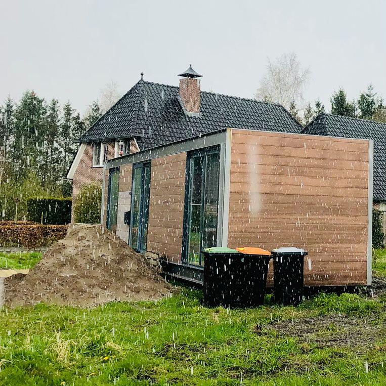 Het eerste tiny huisje van de gemeente Coevorden, in Dalerpeel. Beeld Magriet Oostveen