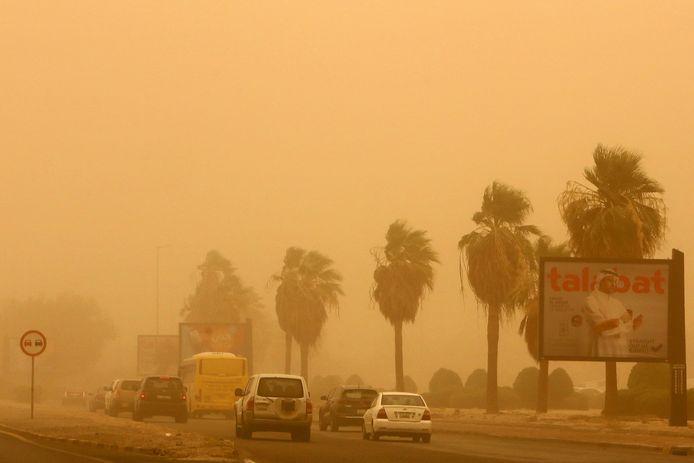 Koeweit heeft regelmatig te kampen met zandstormen.
