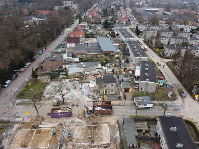 De sloop van de Jerusalembuurt is begonnen. De komende jaren wordt de complete wijk in fases herbouwd.