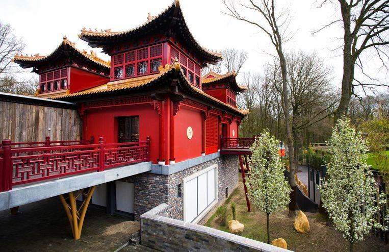Het gloednieuwe verblijf in Rhenen, genaamd Pandasia, kostte ongeveer 7 miljoen euro. Beeld anp