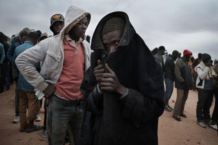 Ras Jedir, Tunesië, 2011. Op de vlucht voor de burgeroorlog in Libië. Beeld Giulio Piscitelli