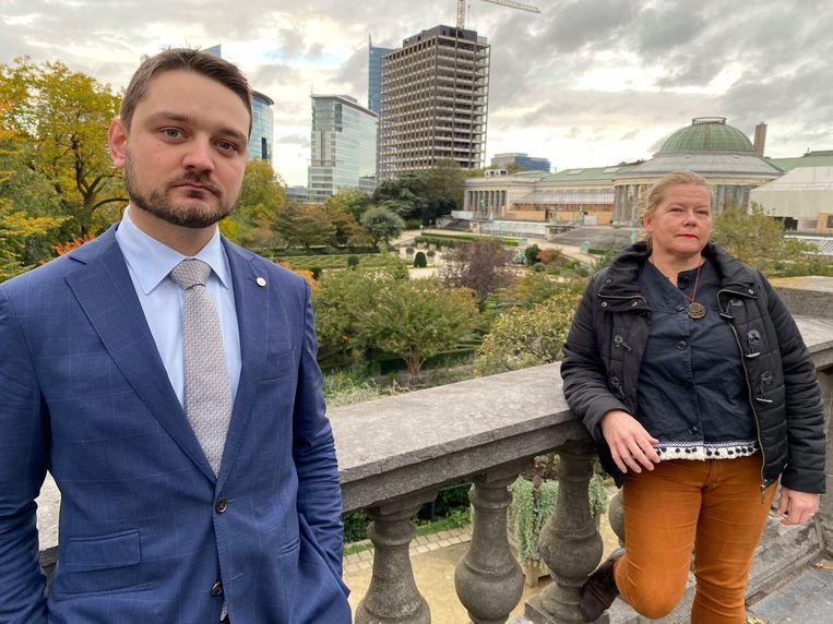 Jurist Jan De Groote en wetenschapsfilosofe Karin Verelst. Beeld Dieter Nijs