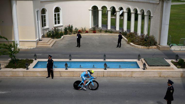 Ann-Sophie Dyck in actie in Azerbeizdjan Beeld GETTY