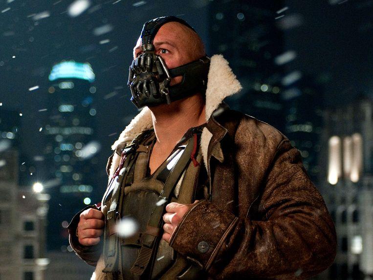 Tom Hardy in 'The Dark Knight Rises' van Christopher Nolan. Beeld