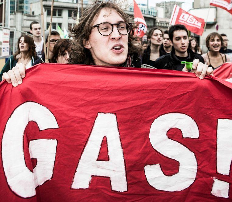 Protest tegen de Gemeentelijke Administratieve Sancties. Een nieuw rapport trekt de autoritaire lijn door. Beeld bob van mol