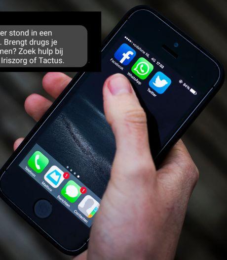 Politie stuurt sms-bom naar coke-gebruikers in Winterswijk: 'Zoek hulp'
