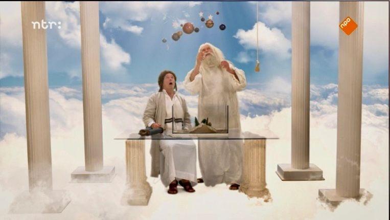 Beeld uit 'Oh mijn hemel...', met Pierre Bokma als Mozes. Beeld Renate Van Der Bas