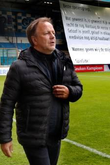 De Graafschap-trainer Snoei is niet van plan de handdoek te gooien na mislopen promotie: 'Er zit genoeg rek in'